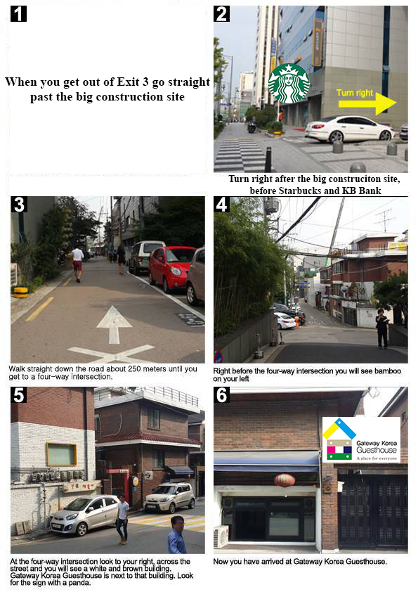6 pictures directions